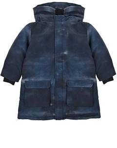 Куртка парка с принтом тай дай детская Emporio armani