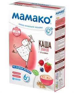 Детская каша 7 злаков с ягодами на козьем молоке 200гр Мамако