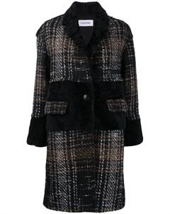 Твидовое пальто с мехом Sylvie schimmel