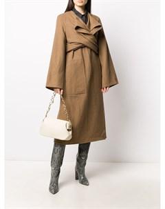 Пальто миди с драпировкой Lemaire