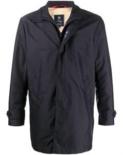 Двухслойное однобортное пальто Fay