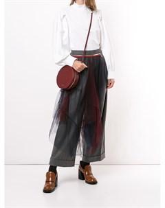 Широкие брюки со вставками из тюля Kolor