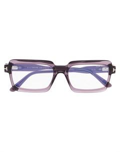 Очки в квадратной оправе со вставками Tom ford eyewear