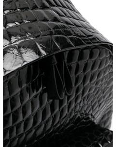 Лакированный рюкзак с тиснением под кожу крокодила Giuliano galiano