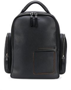 Рюкзак из зернистой кожи Ermenegildo zegna