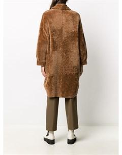 Двустороннее однобортное пальто Simonetta ravizza