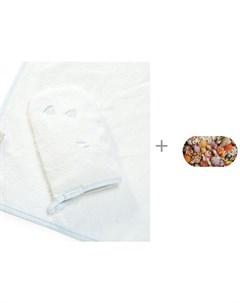 Полотенце с капюшоном и Spa коврик для ванны Ракушки 68х38 см Aqua Prime Stokke