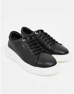 Черные кожаные кроссовки на шнуровке Anouk Fiorelli