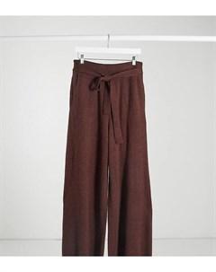 Свободные широкие брюки каштанового цвета с завязкой на талии от комплекта Native youth