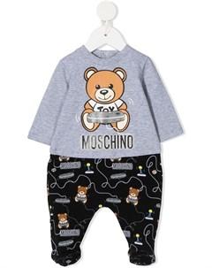 Пижама с логотипом Moschino kids