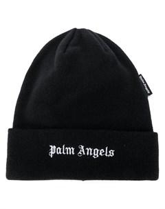 Шапка бини с вышитым логотипом Palm angels