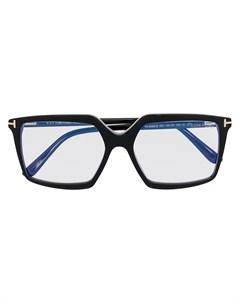 Очки в квадратной оправе с прозрачными линзами Tom ford eyewear