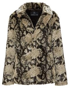 Пальто со змеиным принтом Unreal fur