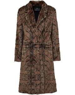 Пальто Maze с леопардовым принтом Unreal fur