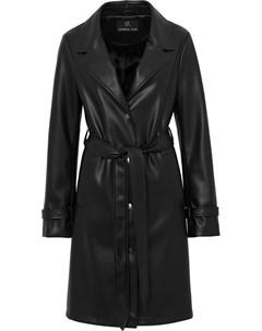 Пальто из искусственной кожи с поясом Unreal fur