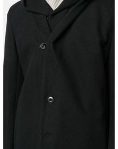 Однобортное пальто с капюшоном Attachment
