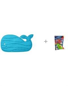 Коврик для купания Китенок и Yako МиниМания игрушки брызгалки в ванну Н85571 Skip hop