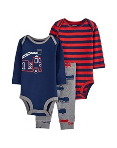 Комплект для мальчика боди 2 шт и брюки с машинами Carter`s
