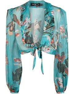 Укороченная блузка с глубоким вырезом Patbo
