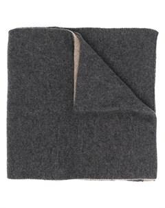 Кашемировый двусторонний шарф Dell'oglio