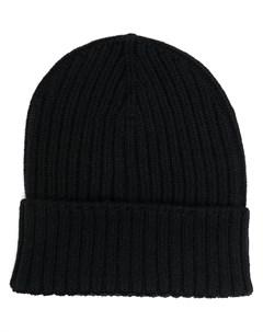 Кашемировая шапка бини в рубчик Dell'oglio