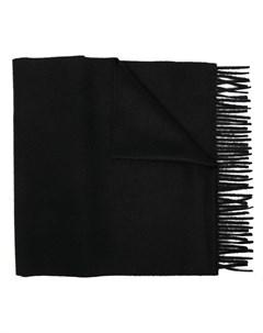 Кашемировый шарф с бахромой Dell'oglio