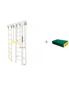 Шведская стенка Wooden Ladder Wall Стандарт и Мат 4 100х100х10 складной Kampfer