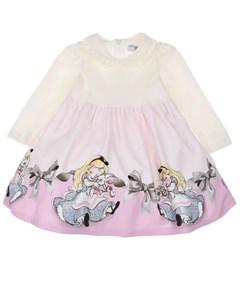 Платье с принтом Алиса в Стране чудес детское Monnalisa