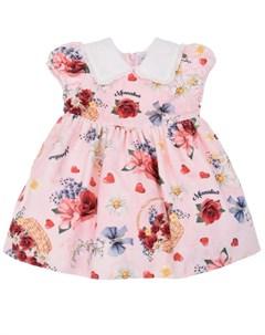 Платье с принтом цветочная корзинка детское Monnalisa