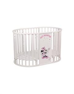Кроватка детская Polini kids Disney baby 925 Минни Маус белая Polini-kids