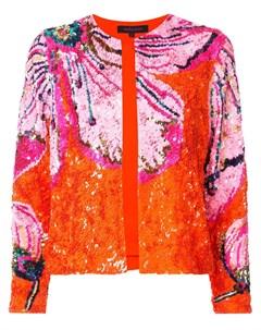 Пиджак с цветочным узором и пайетками Manish arora