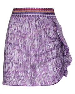 Мини юбка с оборками и эффектом металлик Missoni mare