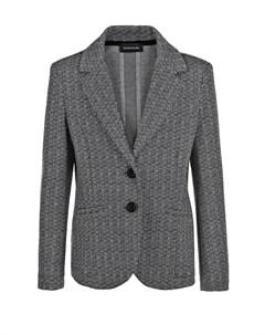Однобортный пиджак с узором елочка детский Monnalisa