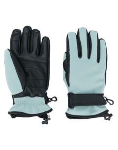 Перчатки с нашивкой логотипом Moncler grenoble