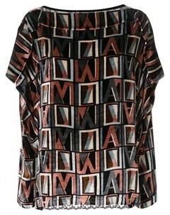 Блузка с кружевом и логотипом Antonio marras