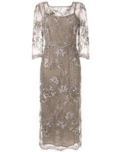 Коктейльное платье с вышивкой Antonio marras