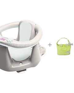 Сиденье в ванну Flipper Evolution и полотенце с капюшоном Minene Cuddly Towel Ok baby