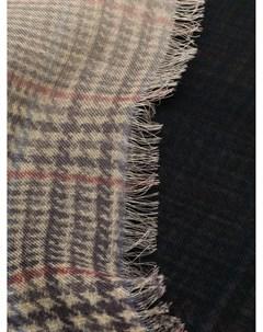 Клетчатый шарф с бахромой Faliero sarti