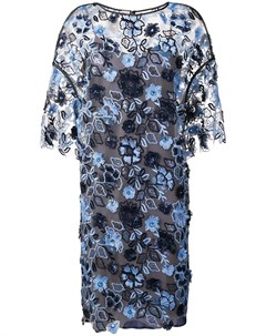 Платье шифт с цветочной вышивкой Antonio marras