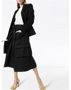 Юбка миди с карманами карго и завышенной талией Lemaire