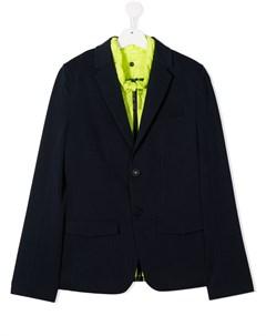 Многослойный однобортный пиджак Boss kidswear