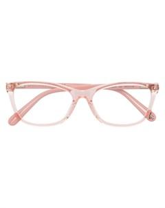 Очки в прозрачной прямоугольной оправе Stella mccartney eyewear