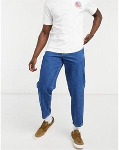Синие суженные книзу джинсы с 5 карманами Stan ray®