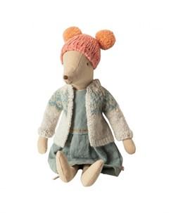 Мягкая игрушка Мышка в зимнем наряде Медиум Maileg
