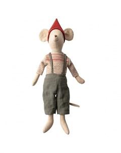 Мягкая игрушка Рождественский мышонок Медиум Maileg