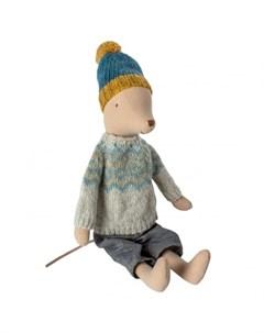 Мягкая игрушка Мышонок в зимнем наряде Медиум Maileg