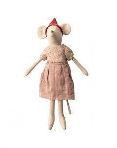 Мягкая игрушка Рождественская мышка Медиум Maileg