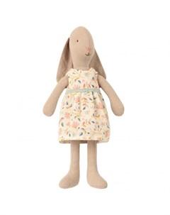 Мягкая игрушка Заяц в платье в цветочек 22 см Maileg