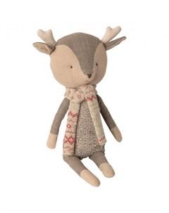 Мягкая игрушка Зимние друзья Олененок мальчик 1 Maileg