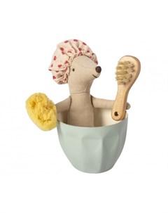 Мягкая игрушка Мышка старшая сестра Spa wellness с набором для купания Maileg